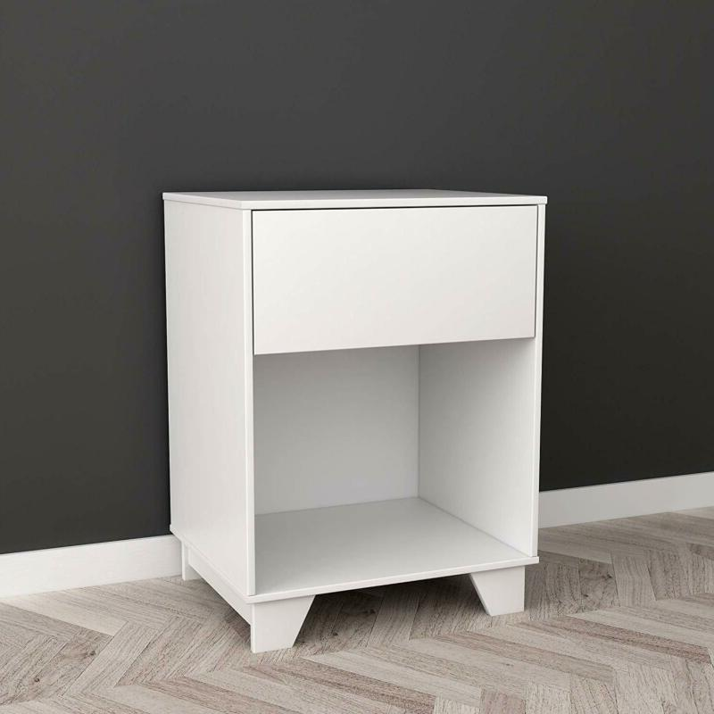 White Finish End and Books