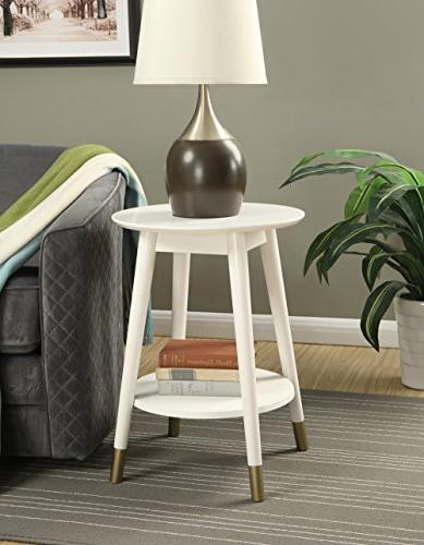 Convenience Concepts Round End Table Bottom