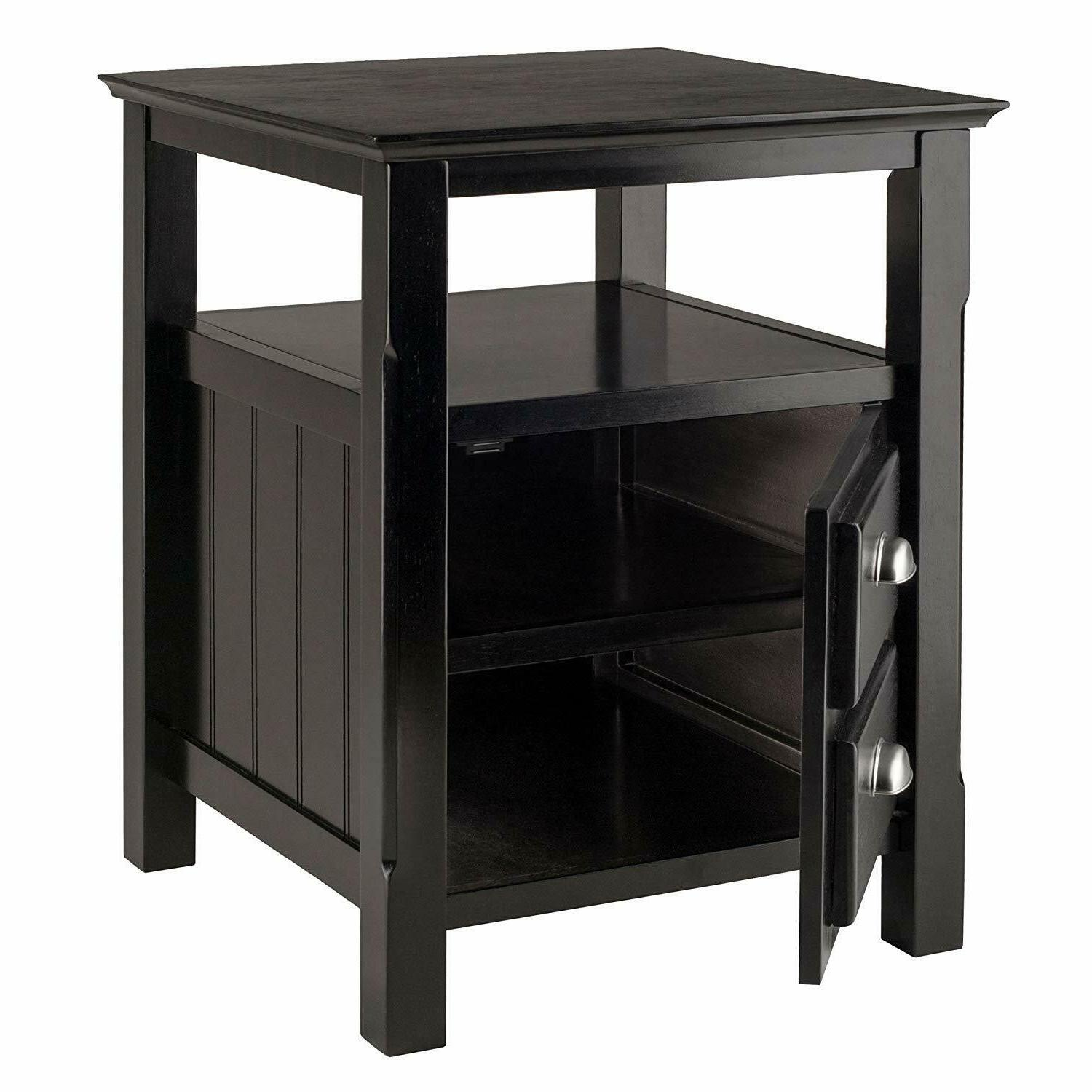 Winsome Solid Wood Drawer Timber Black
