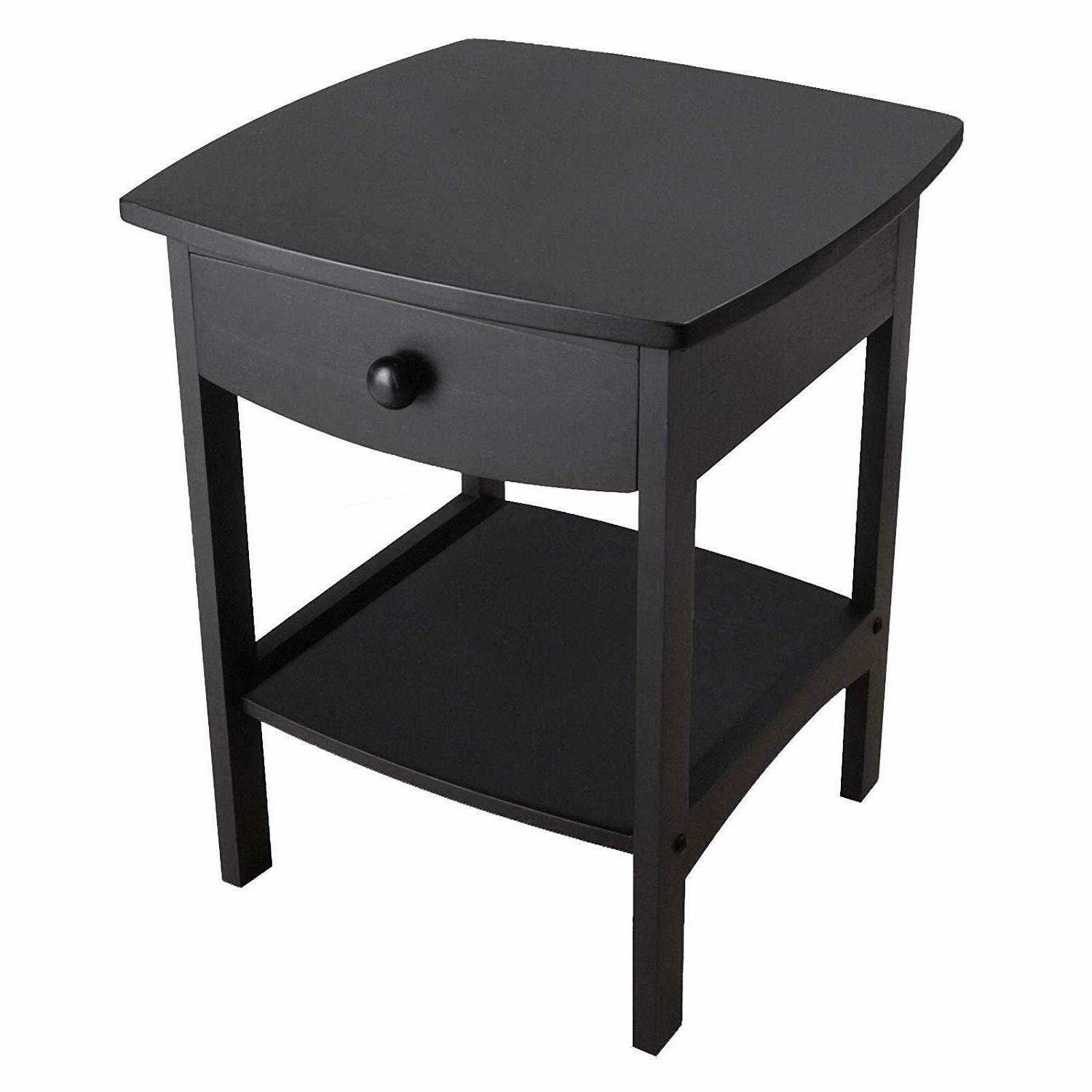 wood 20218 claire accent table black