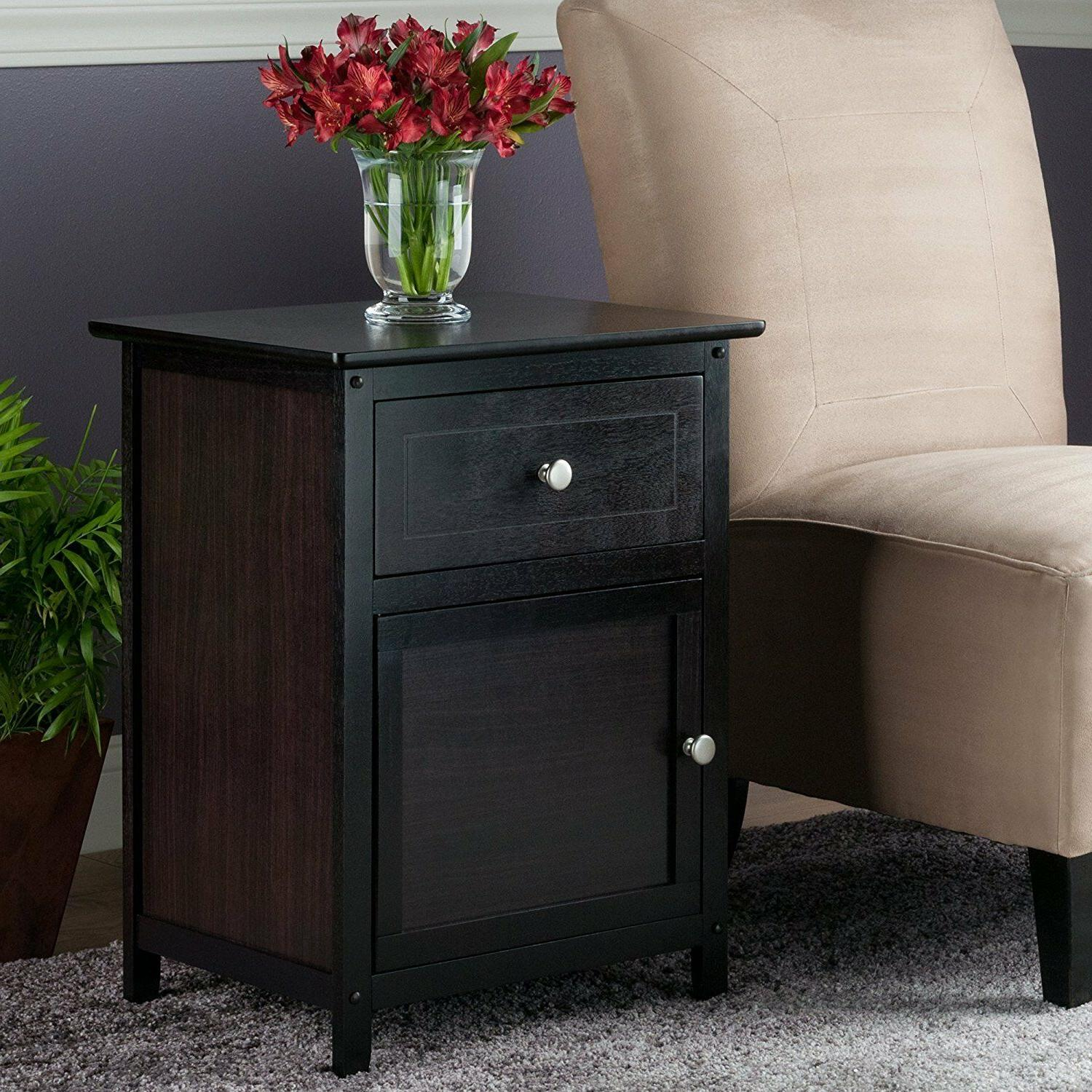 Wooden Stand Table Bed Side Living Home