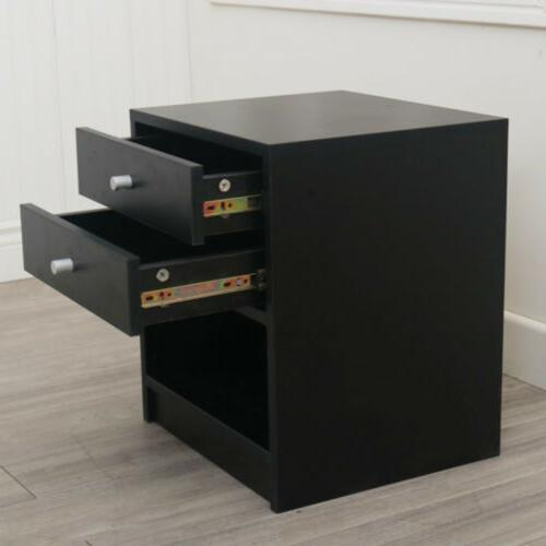 Nightstand Table Bedroom Accent Modern Storage
