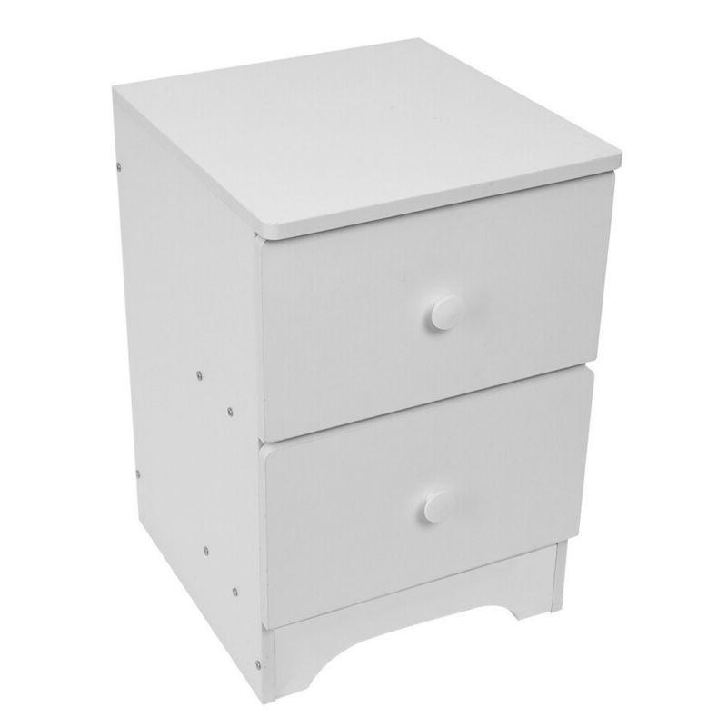 Wood Side Bedside Table W/1/2/3 Drawer Storage