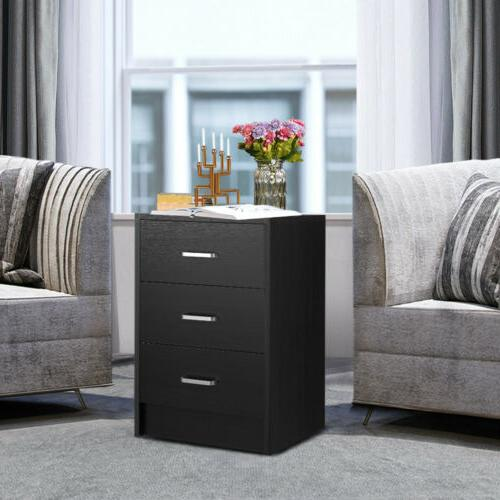 Wooden End Table w/ 3