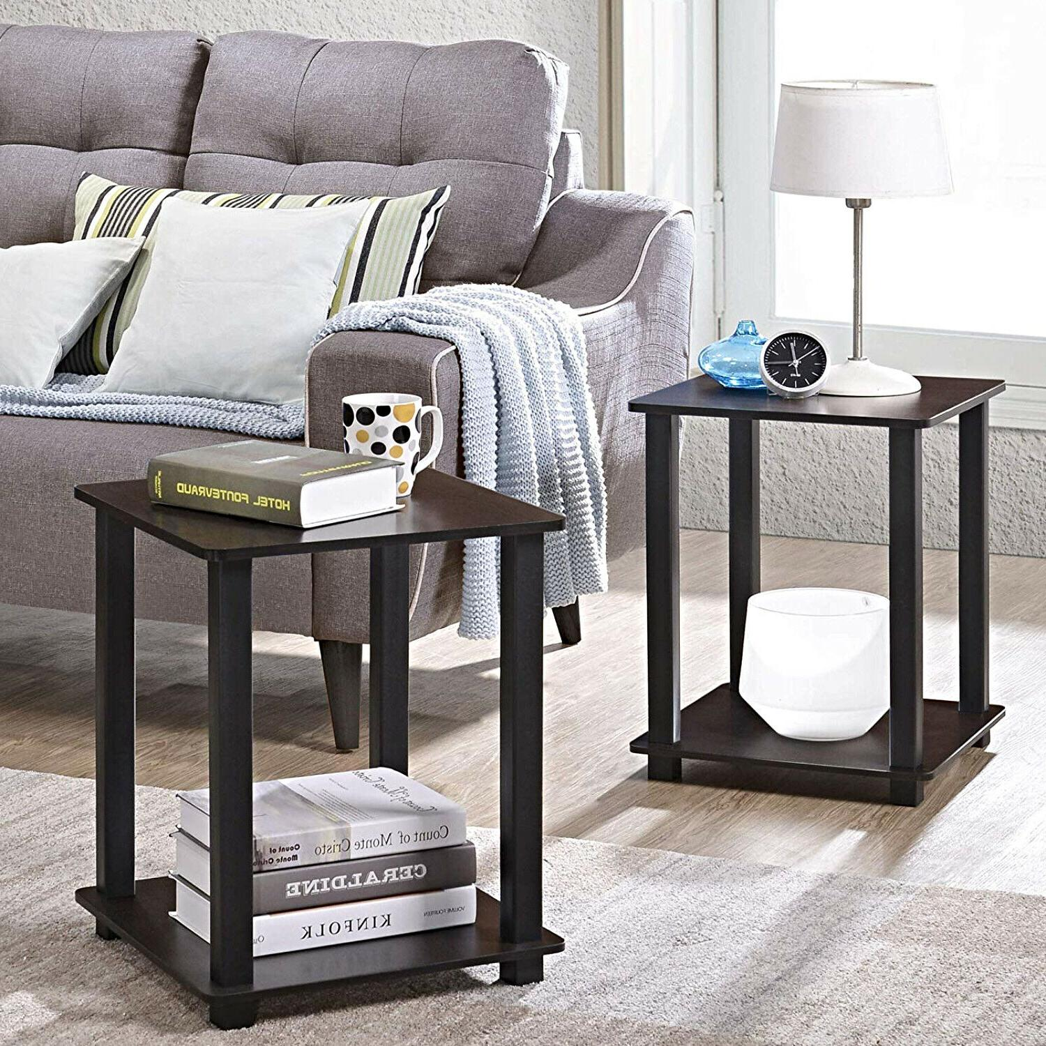 wooden end table set of 2 night
