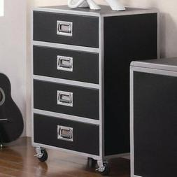 Coaster Furniture Leclair 4 Drawer Chest with Casters - Silv
