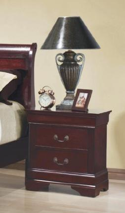 Louis Philippe Cherry 2 Drawer Nightstand
