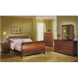 Louis Phillipe 6 Pc. Bedroom Set in Cherry By Coaster Furnit