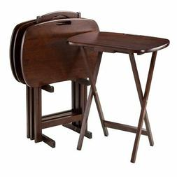 Winsome Lucca 5-Piece Set TV Tables with Handle