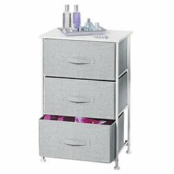 mDesign Fabric 3-Drawer Storage Organizer Unit for Closet, B