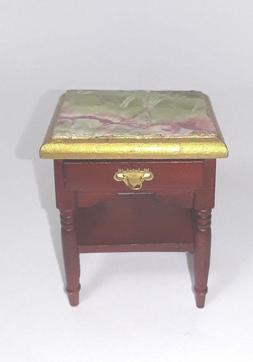 Miniature Dollhouse Furniture Night Stand Table Faux Marble