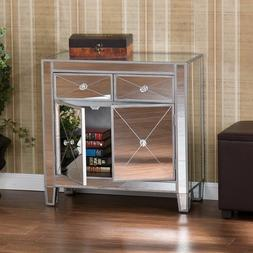 Mirrored Storage Cabinet Drawers Dresser Chest Table Bedroom