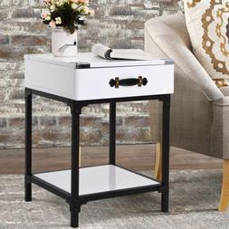 Modern End Drawer Table Side Table Coffee Tea Nightstand Hom