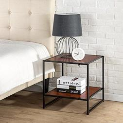 Zinus Modern Studio Collection Square Side End Table Night S