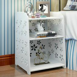 Modern White Flower Bedroom Bedside Table Rack Cabinet Organ