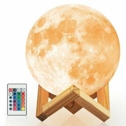 Moon Light W/ 16 Colors And Stand Decor Moon Night Light For