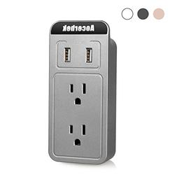 Aocerbek Multi Outlet Wall Mount Adapter Surge Protector wit