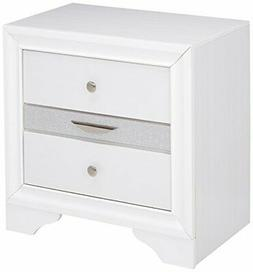 ACME Naima White Nightstand