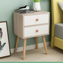 NEW 2 Layer Wood End Side Bedside Table Nightstand Organizer
