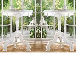 New 2x SHABBY-COTTAGE CHIC WHITE WOOD BED,LIVING-BATH ROOM,N
