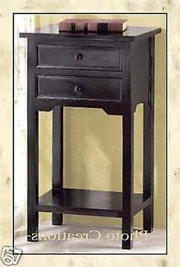 NEW! ELEGANT BLACK WOOD SIDE TABLE,END TABLE,NIGHT STAND,HOM