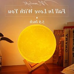 Sunba Youth Moon Night-1 3D Lunar Lamp with Stand, 5.9 Inche