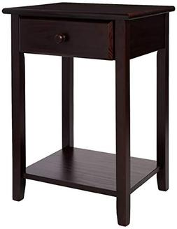 Casual Home Night Owl Nightstand with USB Port 647-23 Espres