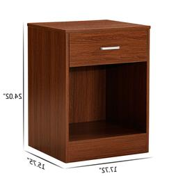 Night Stand 2 Layer W/Drawer Bedside End Table Organizer Bed