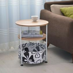Night Stand 3 Layer Bedside End Table Organizer Bedroom Wood