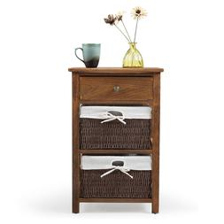 Night Stand 4 Layer 4 Drawers Bedside End Table Organizer Be