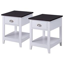 Giantex Set of 2 Night Stand for Bedrooms End Table Coffee T