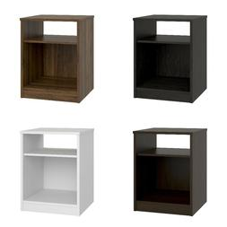 Night Stand Bed Room Side Table End Storage Open Shelf Book