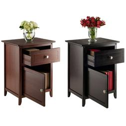 Night Stand Bed Table Drawer End Side Storage Shelf Drawer D