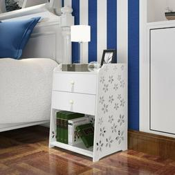 Night Stand Bedroom End Table Bedside Furniture 3/2 Layer Dr