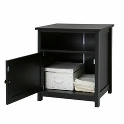 Night Stand Bedroom Stand Bedside Furniture Storage Black En