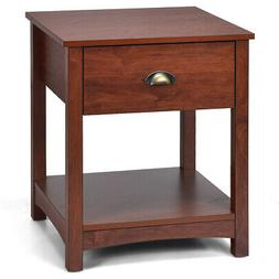 Night Stand Bedside End Table Side Table Accent with Storage