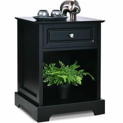 night stand end accent table drawer chest