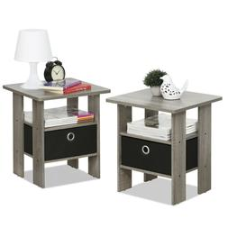 Night Stand Set Bedroom Nightstand Table Pack Pair Storage O