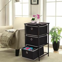 Night Stand End/Side Table Storage Bin Home Office Furni W/