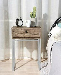 Night Stand Table Bedroom Modern End Accent Side Wood With D