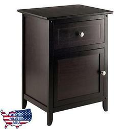Night Stand Table With Cabinet and Drawer Multiple Colors Es