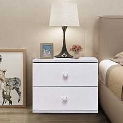 """TANGKULA 13"""" Night Stand Contemporary Simple Design Wood Mul"""