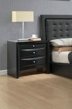 Acme Nightstand - 26 x 17 x 25 - Finish: Black, Brushed Nick