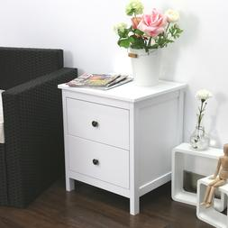 Nightstand Bedroom Bedside Table Storage Furniture Night Sta