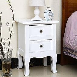 Jerry & Maggie Nightstand Classic White Loyal Luxury Style -