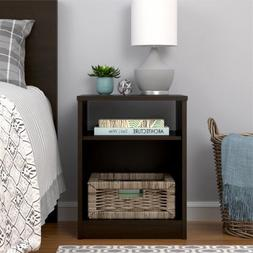 Mainstays Nightstand Features Open Top Shelf and Bottom Cubb
