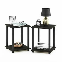 Nightstand Set Of 2 End Table  Espresso/Black Bedroom Living