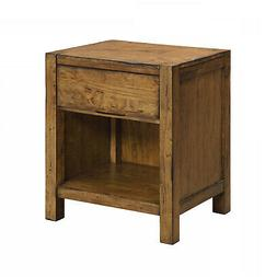 Nightstand Solid Wood Rustic Barn Wood Finish Night Stand Be