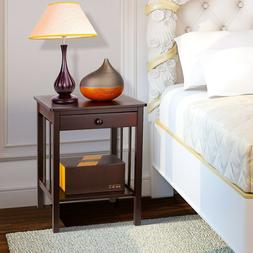 Nightstand With Drawer Furniture Bedroom End Modern Side Tab