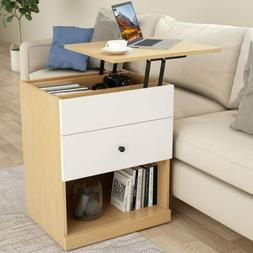 Tribesigns Nightstand with Lift Top and Drawers Bedroom End